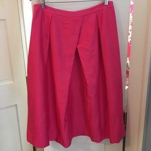 Boden Bright Pink Silk Skirt